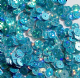 Value pack 50g 5mm Hologram Turquoise Flat Round Sequins